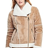 Lands' End Women's Faux Shearling Moto Jacket