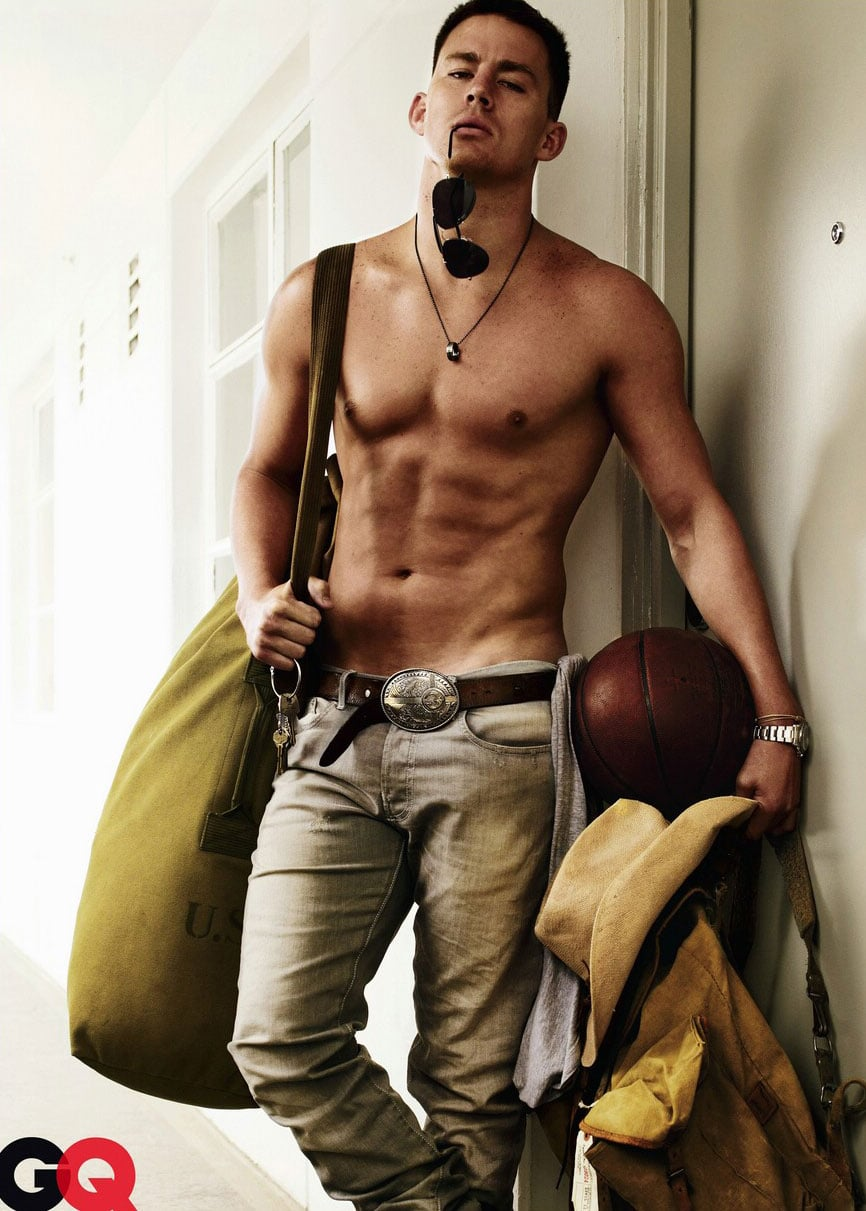 Channing posed shirtless for GQ's August 2009 issue.  Source: GQ