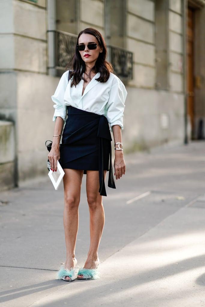 Under a High-Waisted, Asymmetric Skirt