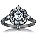 Vintage-Style Black Ring: $64
