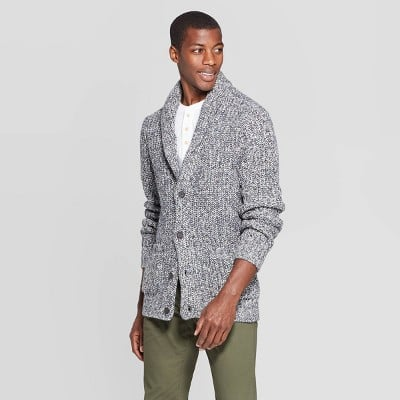Goodfellow & Co™ Gray Men's Casual Fit Chunky Cardigan Sweater