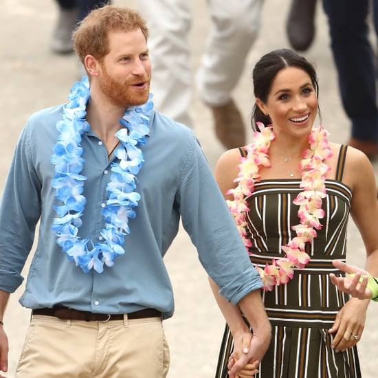 Prince Harry Helping Meghan Markle With Her Shoes in Sydney