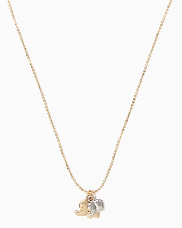 Charming charlie Sweet Elephant Pendant Necklace ($8)