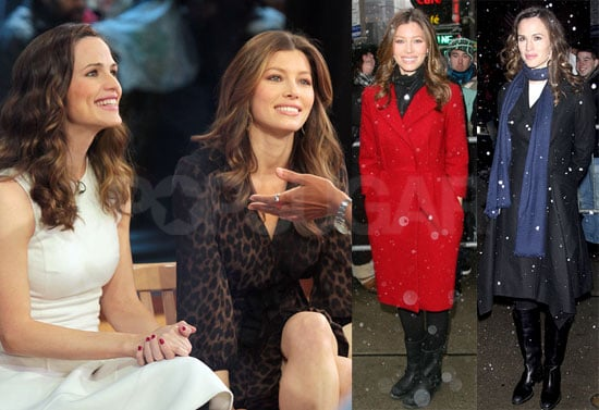 Photos of Jennifer Garner and Jessica Biel Appearing on GMA to Promote Valentine's Day