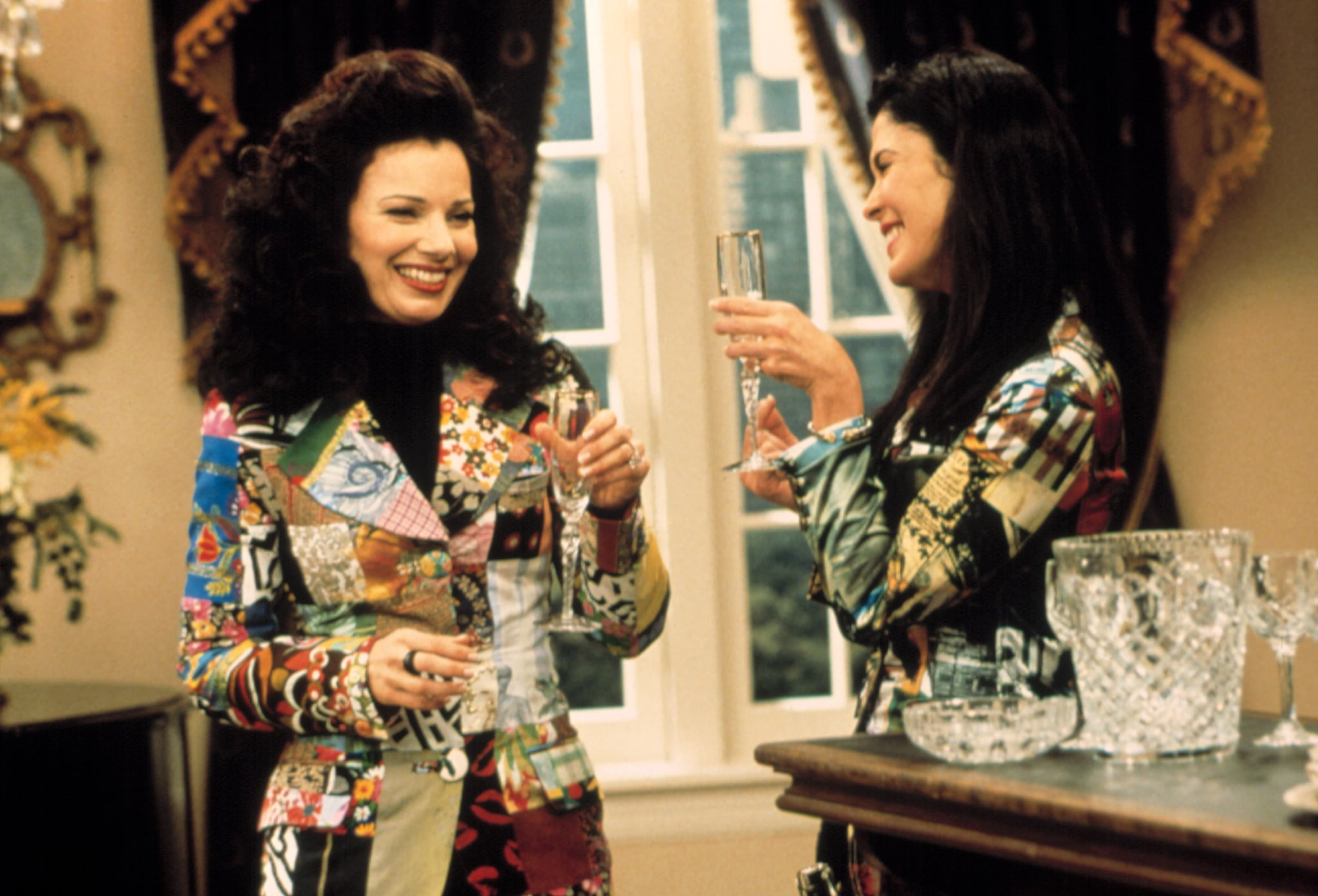 THE NANNY, Fran Drescher, Maria Conchita Alonso, season 5, 1993-99, episode 'Immaculate Concepcion' aired 4/1/98, (c)CBS Television/courtesy Everett Collection
