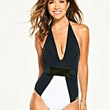 Myleene Klass Belted Mono Plunge Swimsuit