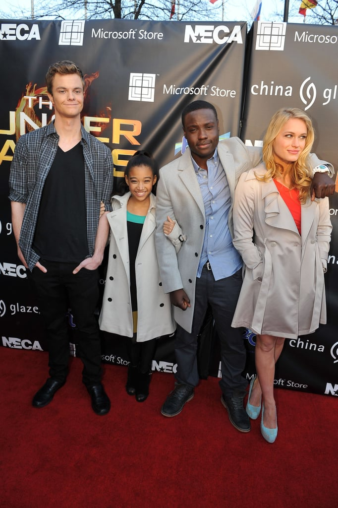 Jack Quaid, Amandla Stenberg, Dayo Okeniyi, and Levin Rambin joined Liam Hemsworth for the appearance.