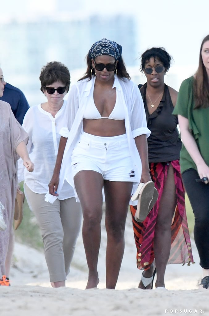Michelle Obama S White Bikini In Miami Popsugar Fashion