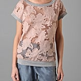 Bird By Juicy Couture Floral Cutout Top with Rib Trim ($278)