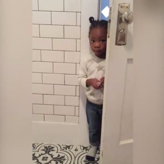 Video of Mom Trying to Use the Bathroom Without Her Toddler