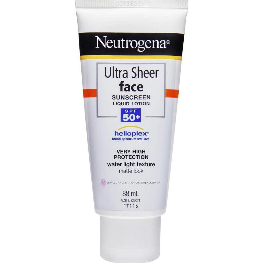 Neutrogena Ultra Sheer Face Lotion Spf 50+ Sunscreen 88ml ($11/90, originally $17)
