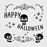Happy Halloween With Skulls Wall Decal