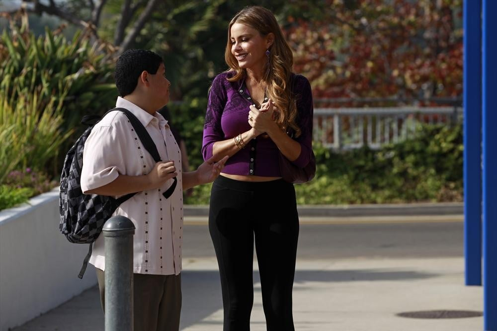 Modern Family Sofia Vergara and Rico Rodriguez on the season premiere of Modern Family.