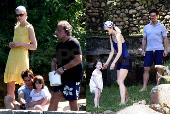 Photos of Tom Cruise, Katie Holmes, and Suri Cruise Vacationing on a Private Island in Brazil