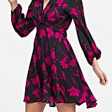 Petite Floral Puff-Sleeve Dress