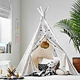 The Emily & Meritt White With Black Stars Mini Tent
