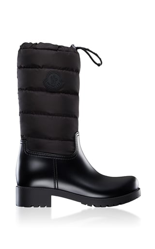 Moncler Ginette Leather Puffer Boots