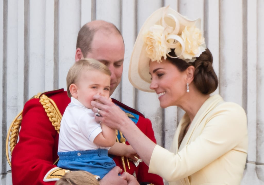 "Prince Louis is developing a very common habit for kids his age — he's a thumb sucker. The 1-year-old royal made his Trooping the Colour debut on June 8, where his adorable wave and natural self-soothing device were caught on camera. Kate Middleton's ""mom reflexes"" jumped into action when she saw, and just like any other parent, she had a solution ready to go.  Parents can deal with this soothing strategy in a variety of ways. As Prince William held Louis on the Buckingham Palace balcony, he attempted to remove his son's thumb gently. Kate saw the interaction, and stepped in to help, smoothly approaching Louis with a smile and taking his thumb out of his mouth — all without a hitch. Louis reserved his hands for clapping and waving to the crowd, instead.  There's no set age-limit or hard-and-fast rule to thumb sucking, although board certified family physician Dr. Mia Finkelston said it ""disappears as the child becomes more self-sufficient and social once they reach 2 years old."" If the habit is carried on too long, it can affect jaw shape or speech patterns, which prompts many parents to step in early.  Every mom or dad is entitled to approach thumb sucking in a manner that best fits their child — and it may be different for each one! We've never seen Louis's siblings, Prince George and Princess Charlotte, sucking their thumbs in public but that doesn't mean they never did it. Just like toddler tantrums, this is one of the parenting realities not even royals can escape.       Related:                                                                                                           Kate Middleton Gets Candid About the Fact That She, Too, Has Parenting Struggles Sometimes"