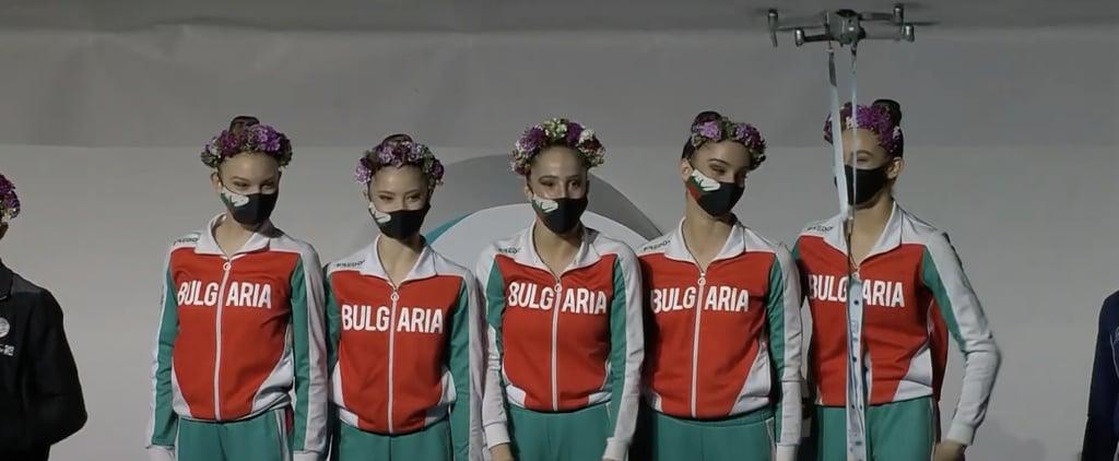 Drone Medal Delivery at Baku Rhythmic Gymnastics World Cup