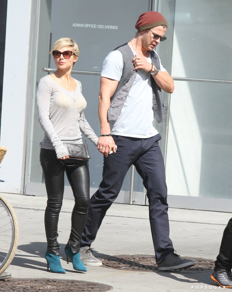 Chris Hemsworth and Elsa Pataky held hands while walking in NYC.