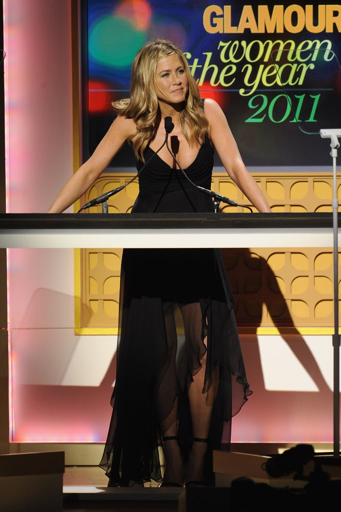 Jennifer Aniston presented at the 2011 Glamour Women of the Year Awards.