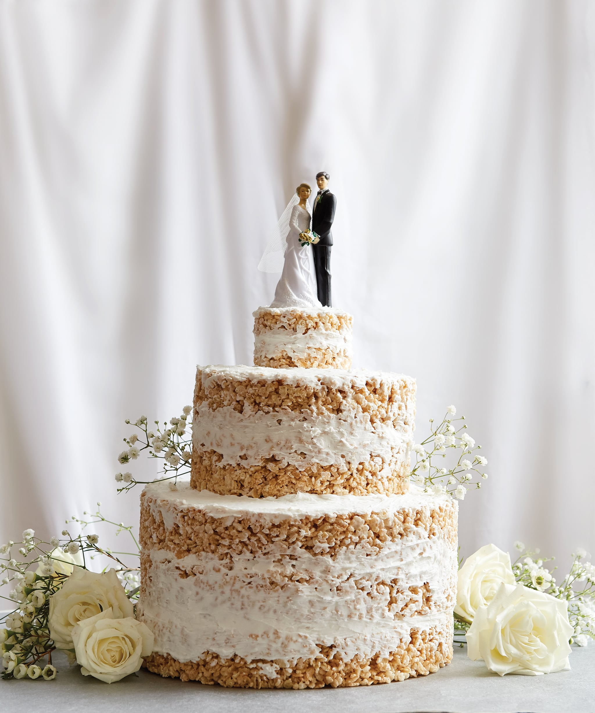 Wedding Cake Recipe.How To Make A Gorgeous Wedding Cake Entirely Of Rice Krispies Yes Really