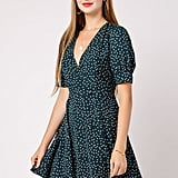 Azalea Polka Dot V Neck Dress