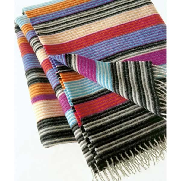 The Missoni Home Erode Throw ($355) has a colorful array of stripes to add flavor to your home. Made of 87 percent wool, you'll love bundling up fireside in this soft, cheerful, and warm throw.