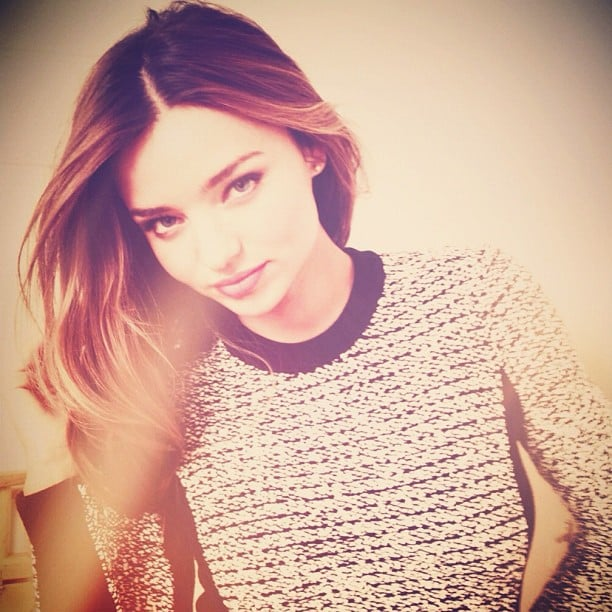Miranda Kerr shared a photo after getting her hair done. Source: Instagram user mirandakerrverified
