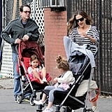 Sarah Jessica Parker and Matthew Broderick spent the day in NYC with their daughters.