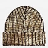 Gold Foil Beanie Hat