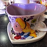 Here is a matching Alice cup and saucer that came included in the price of two desserts.