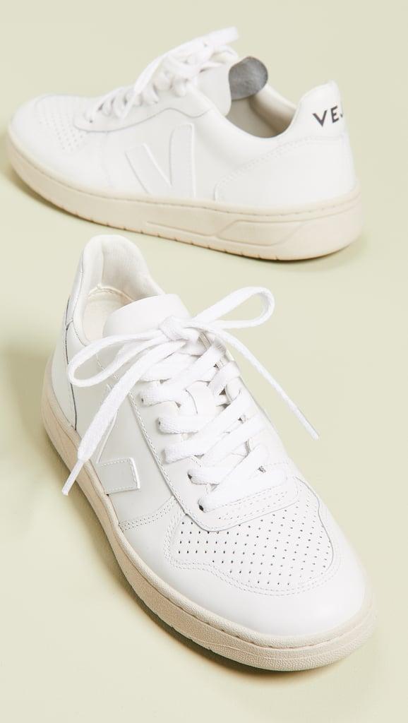 Veja V-10 Lace Up Sneakers