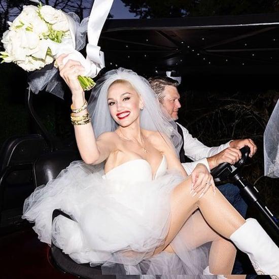 Gwen Stefani's Vera Wang Wedding Dresses and Cowboy Boots