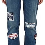 EACH X OTHER Patched Jeans ($547)