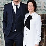 Jeremy Irvine and Phoebe Fox posed for pictures at the London Critics Circle Film Awards.