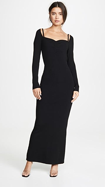 Victor Glemaud Long-Sleeved Ribbed Dress