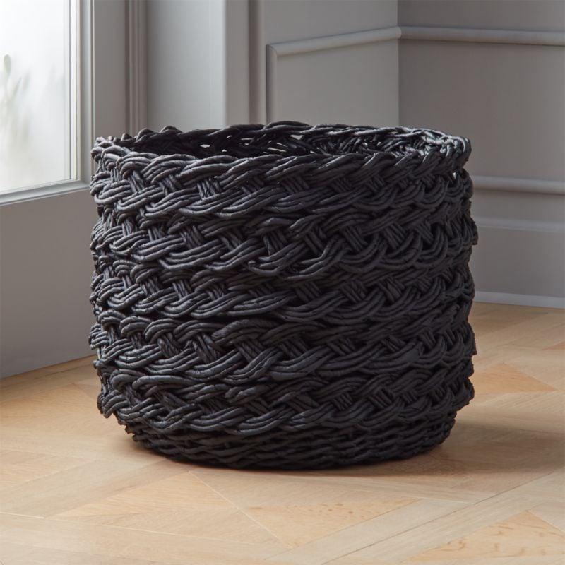 Madeline: Black Braided Basket