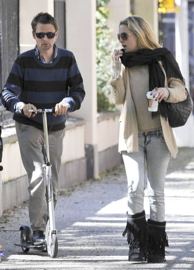 Pictures of Kate Hudson and Matt Bellamy on Scooters With Ryder