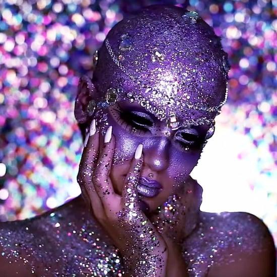 Nicole Guerriero's Sparkly Alien Halloween Makeup Tutorial