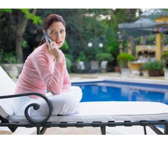 Poolside Telephone Access