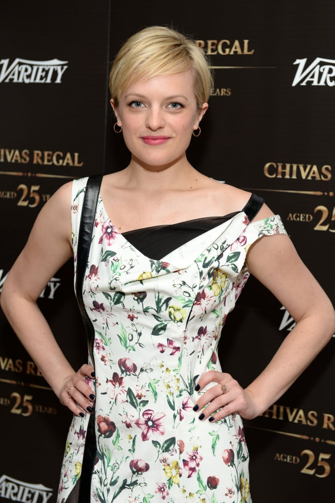 With her platinum pixie, Elisabeth Moss took the Variety Emmy Studio by storm.