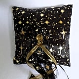 Galaxy Ring Pillow With Gold Stars