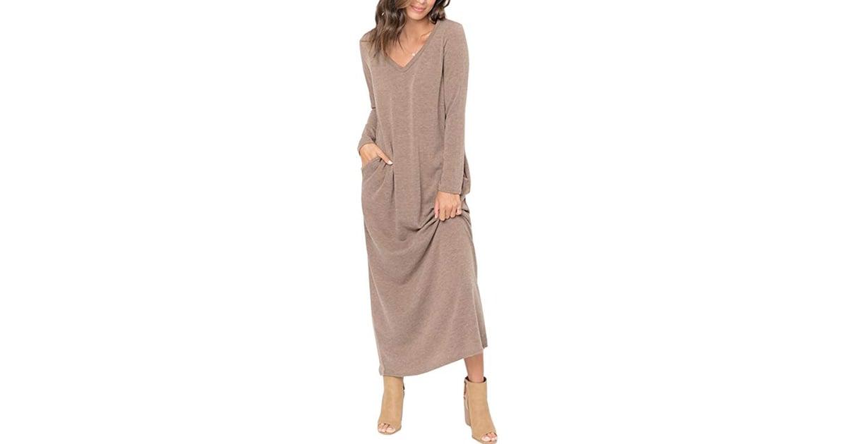 660943f3bef EastLife Long Sleeve Maxi Sweater Dress
