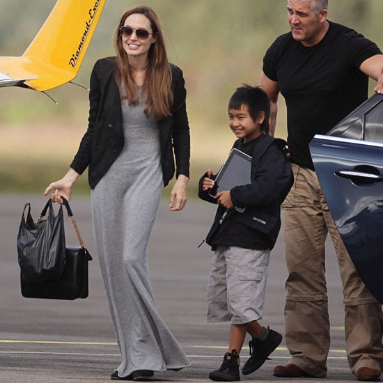 Angelina Jolie Flying Lesson Pictures With Maddox Jolie-Pitt