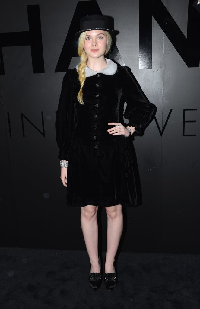 Elle Fanning chose Chanel for a night out in NYC.