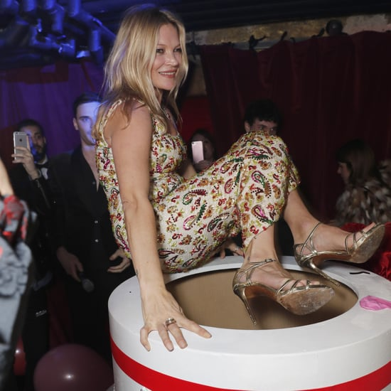 Kate Moss Jumps Out of a Cake