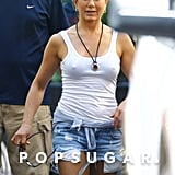 Jennifer Aniston took a walk on the set of We're the Millers.