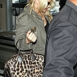 Jessica Simpson in all black at LAX.