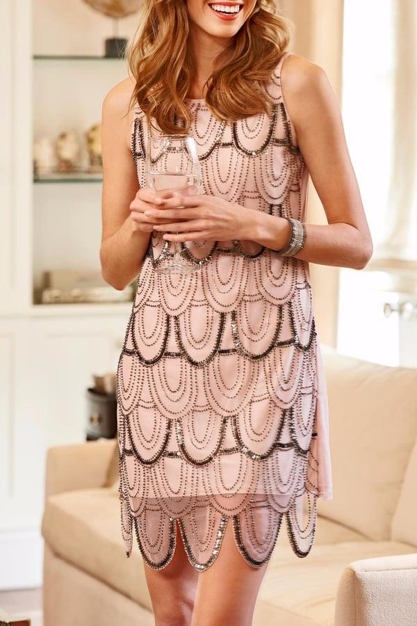 Charlie Paige Rose Embellished Dress